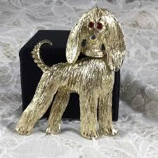 afghan hound vintage vintage vintage goldtone trembler head afghan hound brooch from