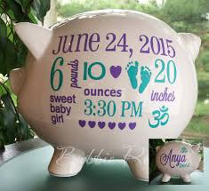 personalized baby piggy banks personalized piggy bank om symbol baby om baby baby piggy bank