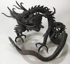 igavel auctions 3 asian bronze items 20th c a dragon lamp