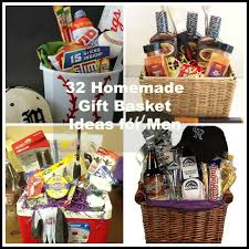 32 homemade gift basket ideas for men