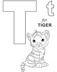 little tiger alphabet coloring page alphabet coloring pages of