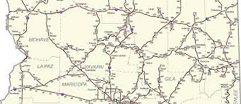 Map Of Arizona And Utah by Az Milepost Maps