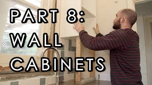 how to hang wall cabinets laundry reno part 8 youtube