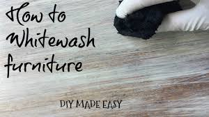 white wash wood how to whitewash furniture tutorial diy made easy youtube