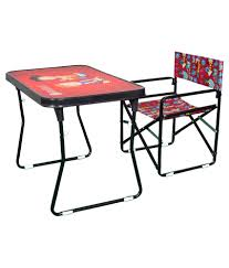 steel craft red study table and chair set buy steel craft red