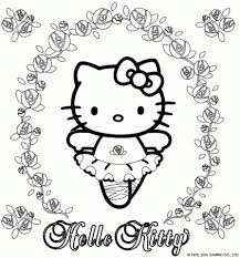 get this easy printable kitty coloring pages for children 73599
