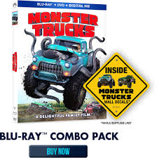 monster trucks blu ray combo pack review giveaway