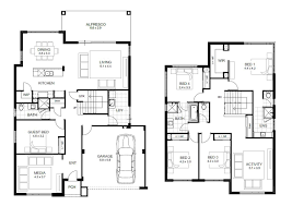 House Layout Drawing by 4 Bedroom Double Storey House Plans Descargas Mundiales Com