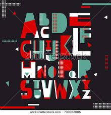 vector stylized bold font alphabet stock vector 655239679