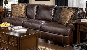 living room furniture ashley axiom walnut sofa by ashley furniture tenpenny furniture