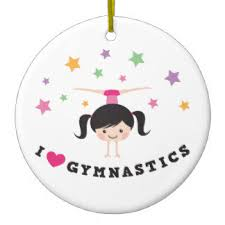 gymnast ornaments keepsake ornaments zazzle