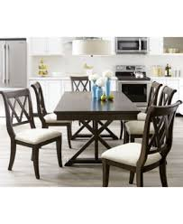 baker dining room chairs baker street dining furniture 7 pc set dining trestle table 6