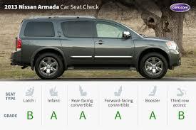 nissan armada rear 2013 nissan armada car seat check news cars com