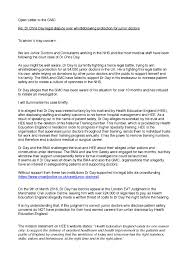 Formal Legal Letter by Letter To The Gmc Signed By 1 000 Doctors