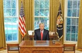 trump just hung the portrait of a genocidal in the oval office