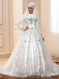 islamic beading lace chapel royal muslim wedding dress