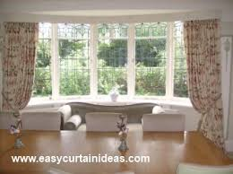 Curtain Ideas For Curved Windows Curved Curtain Rods