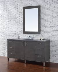 60 inch silver oak finish single sink modern bathroom vanity