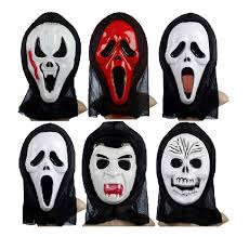 horrible devil scary ghost face scream mask halloween party dress