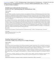 B Otisch Schmal Modellierungen Mathematischer Kompetenzen U2013 Kriterien Für Eine