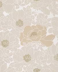 wallpaper wall wallcovering flower floral vinyl edem 025 23 beige