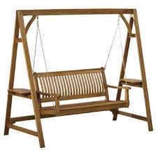 Swings Patio Wooden Patio Swing Chair Design For Comfortable Outdoor Seating
