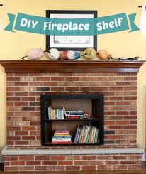 a simple fireplace makeover