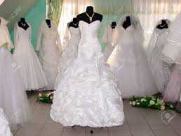 shop wedding dresses some wedding dress s in a dress shop stock photo picture and