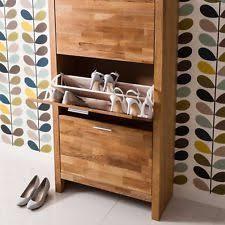 Shoe Cabinet Oak Shoe Storage Ebay