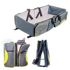 Baby Folding Bed Ecdb001 3 In 1 Diaper Bag Multi Purpose Baby Travel Carry Cot Bed