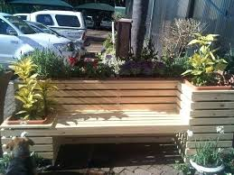 custom built ipe wood planters and planter boxes built in roof