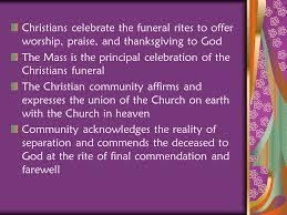 christian funeral symbols ppt