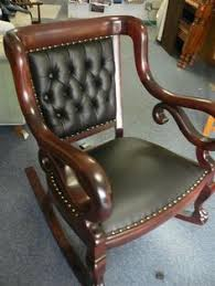 Rocking Chair Antique Styles Victorian Era Carved Mahogany Rocking Chair Antique Baby Stuff