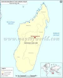 Madagascar Blank Map by Where Is Antananarivo Location Of Antananarivo In Madagascar Map
