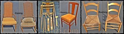 chair caning rushing refinish repairs cushions kern to orange