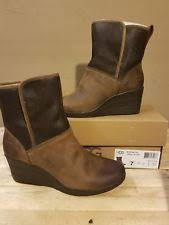 ugg australia womens emalie brown stout leather ankle boot 7 ebay ugg australia s emalie stout brown waterproof leather boots