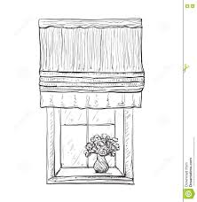 hand drawn windows sketch stock vector image 74458147