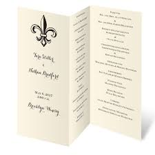 tri fold wedding programs ecru trifold program invitations by