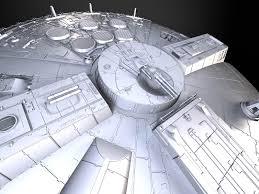 starwars millennium falcon with interior squir