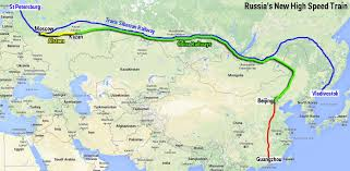 moscow russia map russia builds moscow to beijing high speed business insider