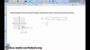 Coordinate Geometry Worksheets Geometry Parallel Lines And The Coordinate Plane The Distance