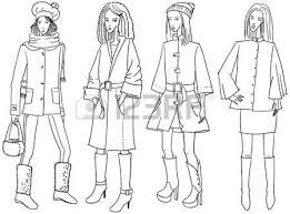 icons set of female clothes and accessory royalty free cliparts