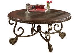 ashley furniture round coffee table rafferty coffee table ashley furniture homestore