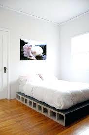 Concrete Block Bed Frame Cinder Block Bed Decorate With Concrete Blocks 3 Cinder Block Bed