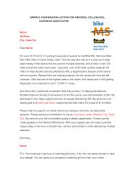 sample fundraising letter for friends colleagues sample
