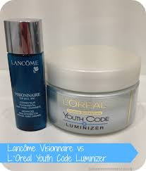 saloca in wonderland lancôme visionnaire vs l u0027oreal youth code