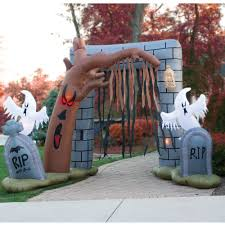 wailing graveyard archway scares up a terrifying threshold to