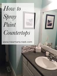 Cheap Bathroom Countertop Ideas Astonishing Best 25 Spray Paint Countertops Ideas On Pinterest
