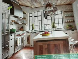 brick floor in kitchen rustic cottages kitchens designs idea