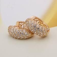 gold earrings price in pakistan 18 k gold plated zircon earrings 1508 online shopping in